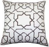 Bed Bath & Beyond Solara Beaded Square Throw Pillow in Silver