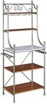 Bed Bath & Beyond Olreans Baker's Rack in Marble/Vintage Caramel