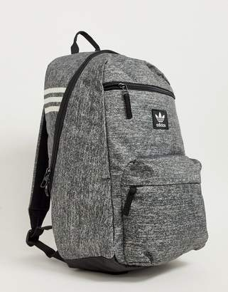 adidas backpack in gray with small logo