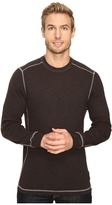 True Grit Softest Slub Waffle Thermal Long Sleeve Side Panel Crew with Contrast Stitch