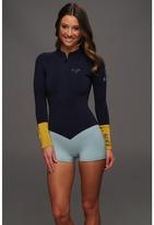Roxy Kassia Meador 2MM Front Zip L/S Springsuit (Blue) - Apparel