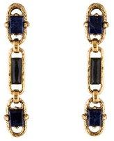 Oscar de la Renta Sodalite Link Drop Earrings