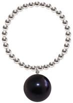 Ring Black Ora Pearls Silver Orb Pearl