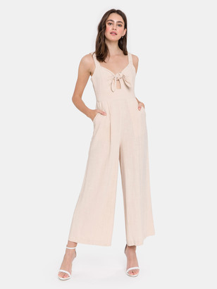 ENGLISH FACTORY Tie Front Jumpsuit
