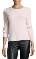 Elizabeth and James Karina Waffle-Knit Long-Sleeve Cashmere Sweater