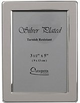 Evergreen Tarnish Resistant Silver Plated Narrow Edge Photo/Picture Frame, 3.5x5 inch