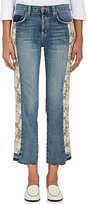 Current/Elliott Women's The Uneven Seamed Original Straight Jeans