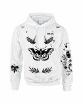 Allntrends Adult Hoodie Sweatshirt Harry Styles Tattoo 1D Sweatshirt (L, )