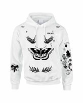 Allntrends Adult Hoodie Sweatshirt Harry Styles Tattoo 1D Sweatshirt (M, )