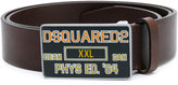 DSQUARED2 Phys Ed buckle belt - men - Leather/metal - 90
