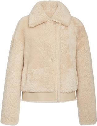 Common Leisure Iris Shearling Aviator Jacket