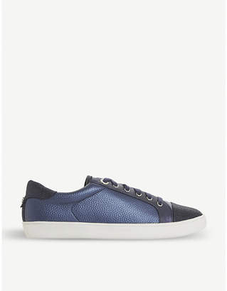 Dune Enzow glittered-toe faux-leather trainers