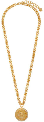 Versace Gold Crystal Tribute Medusa Necklace