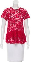 Thakoon Lace Peplum Top