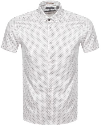 Ted Baker Sortit Geo Short Sleeved Shirt White