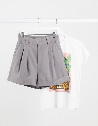 ASOS DESIGN bermuda co-ord short in grey