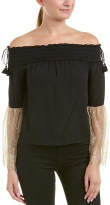 Rachel Zoe Women's Wylie Off Shoulder Lace Top
