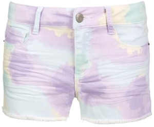 Imperial Star Big Girls Pastel-Print Denim Shorts