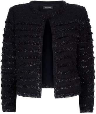St. John Textured Tweed Jacket