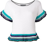 Alberta Ferretti flared sleeve top - women - Cotton - 42