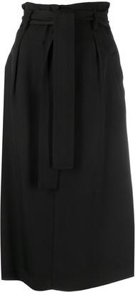 Elisabetta Franchi Belted Midi Skirt