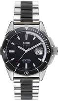 Storm Mens Quartz Watch, Analogue Classic Display and Stainless Steel Strap 47145/BK