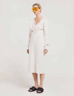Bottega Veneta Asymmetrical silk-crepe dress