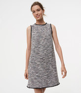 LOFT Fringe Tweed Shift Dress