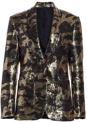 R 13 Camo Sequin Blazer