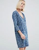 Pepe Jeans Ines Denim Floral Print Dress