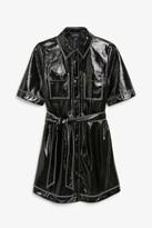 Monki Vinyl shirt dress