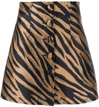 Andamane Zebra Print Mini Skirt