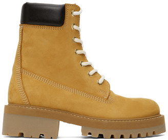 Vetements Tan New Trucker Boots