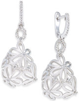 Macy's Diamond Daisy Drop Earrings (1/3 ct. t.w.) in Sterling Silver