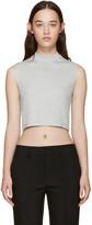 Nomia Grey Ribbed Sleeveless T-Shirt