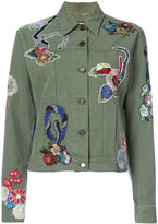 Saint Laurent embroidered jacket - women - Cotton - M