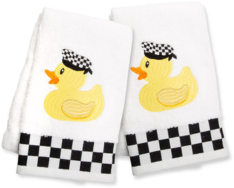 Mackenzie Childs Rubber Ducky Hand Towels Set Of 2