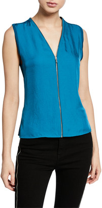 Rag & Bone Valerie Zip-Front Sleeveless Top