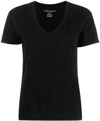 Majestic Filatures V-neck cotton T-shirt