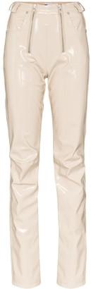 GmbH Zip Detailed Straight Leg Trousers