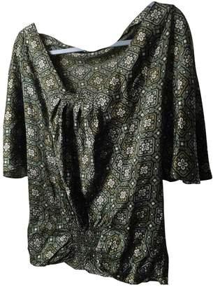 Bel Air Green Silk Top for Women