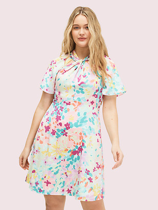 Kate Spade Painted Petals Twist Neck Dress