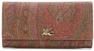 Etro Paisley-Print Continental Wallet