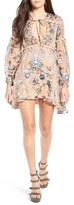 For Love & Lemons Women's 'Saffron' Floral Print Fil Coupe Minidress