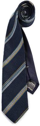 Missoni Striped Micro Print Tie