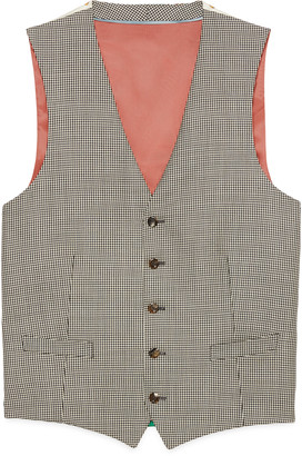 Gucci Houndstooth wool formal waistcoat