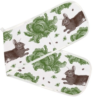 Thornback & Peel Rabbit & Cabbage Printed Oven Gloves