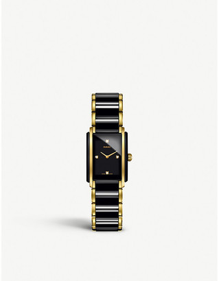 Rado Women's Gold and Black R20845712 Integral Ceramic And Yellow Watch