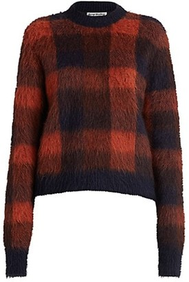 Acne Studios Check Alpaca-Blend Knit Sweater