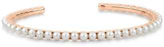 ginette_ny Maria Open Pearl Cuff Bracelet - Rose Gold